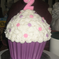 Cupcake Cake Purple Chocolate Melt Liner, Chocolate Cake, Buttercream Frosting. Made with Wilton Cupcake Pan