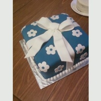 Wilton Course 3 Present Cake First time ever using fondant!