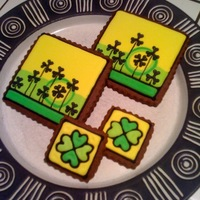 St. Pat Lucky Clover Cookies As a kid I used to search beds of clover for a lucky four-leaved one, but was always disappointed at never finding one. Well, there won&#...