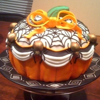Happy Boo-Day Cake My significant other's b-day is Oct. 30 and mine is Nov. 6, so we had a Halloween/birthday party. This is the Happy Boo-day Cake I...