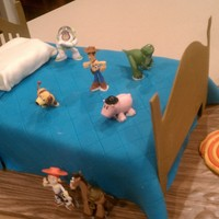 Toy Story Andy's Bed I made this for my son's birthday. Characters are toys, but everything else is edible. Thanks to fellow CCers for the ideas and...