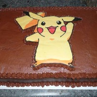 Pikachu I did this for a friend's son, Chocolate Buttercream with a Pikachu BCT.