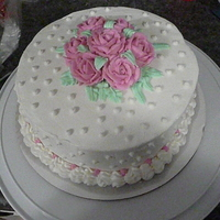 Course 1 First Cake Buttercream with Buttercream Roses.
