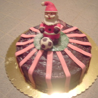 Cake For My Son's Soccer Christmas Party