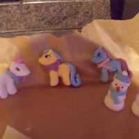 "Standing Ponies my daughter seen a cake she wanted for her birthday but wanted ""cake"" ponies rather than toys, so this is what I came up with..."