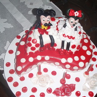 Mickey And Minni Cake Birthday cake