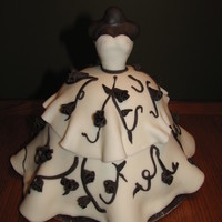 Black/white Wedding Dress Made to match the invitation.