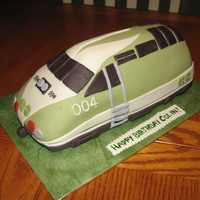 Toronto Go Train Cake Client's 4 year old son loves the GO train so he asked me to create one for him for his birthday.