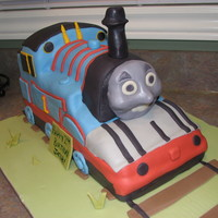 Thomas First time doing Thomas. All cake and fondant.