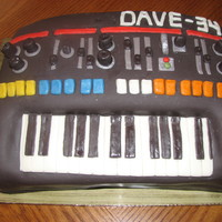 Keyboard Cake Inspiration from client's keyboard. Dave was turning 35 so we put that on the cake as well.