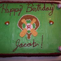 Baseball This was probably my 4th paid cake for a friend. I wasn't real happy wiht the turnout.