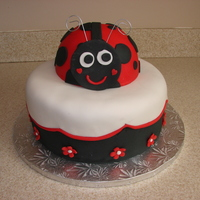 Ladybug Cake Made for my cousin whose mom always called her Ladybug.