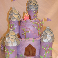 "Purple And Silver Princess Cake  My sweet niece wanted a ""purple and silver princess cake mad of chocolate"" for her 5th birthday. After seeing this idea from..."