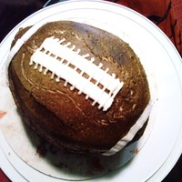Football Cake For Dad!