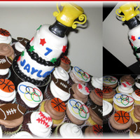 """i Want To Be An Olympian For My Birthday"" Mini Cake And Cupcakes"