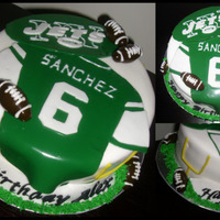Will All My Jets Fans Please Stand Up- Cake Entire cake is edible and cut outs were done by hand.
