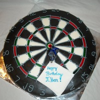 Dartboard Cake Birthday cake presented at a dart competition. First time with inlays =)