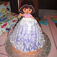 Dora The Explorer Dress This is my 2nd cake I ever made!
