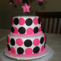 Pink/black Dots This is what I came up with for my daughters 7th b-day! I love the way it turned out! She loved it too!