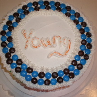 M&m Just another simple M&M cake I made for a co-worker. I am about to have a baby so simple is good!!! TFL!