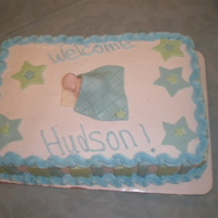 My Baby Boy!  I made this cake for my own baby shower! I know it sounds silly to make your own cake, but I like the practice. This was my first time...