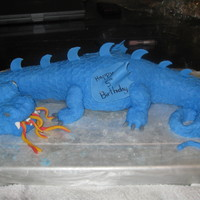 Dragon Cake I made this cake for my son's 5th birthday. iv never taken a course and i have only been making cake like this one for almost 2 years...