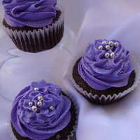 Purple!!  These are for my daughter's 6th birthday to take to school. Chocolate with vanilla buttercream. After I was finished, I realized they...