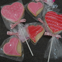 Valentine's Cookies Experimenting with cookies on a stick and different designs. Thanks for looking!