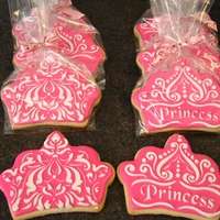 Princess Cookies I did these for my daughter's 5th birthday party. They are a stencilled design, and I put them in the goodie bags. Thanks for looking...