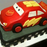 Disney Cars Lightning Mcqueen All BC w/ fondant accents