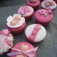Little Girly Cupcakes Cupcakes, 20 in total, made for a Baby Shower. Little Girly Cupcakes.