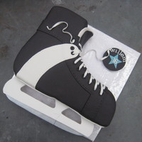 Hockey Skate Cake Here's my version of the hockey skate cake, as seen before.For my little brother who turned 16 yesterday.