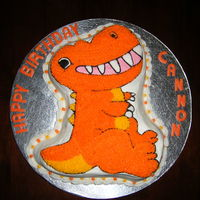 Dinosaur Birthday   Classic Chocolate cake with BC icing and BC decorations.