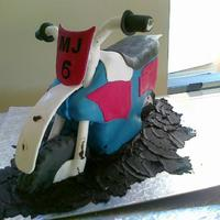 Dirtbike Tough one. Next time I will do it bit different.Only the body is edible.