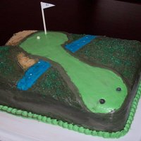 Golf Cake  I'm new to cake decorating, but I made this cake with love for my grandfather's 87th birdthday! He is still quite the golfer so I...