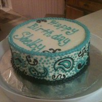 Paisley Cake Simple butter-cream 2 layer cake.