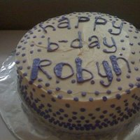 Purple Dot Cake Simple butter-cream 2 layer cake.