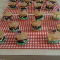 Hamburger Cupcakes I loved making these hamburger cupcakes!! the hamburger portion of the cupcake is chocolate cake. I made cheese out of fondant. I also made...