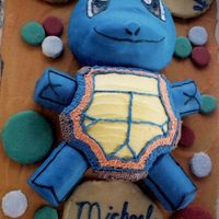 Pokemon's Squirtle  I made this birthday cake last year for my grandson's birthday. He love's Pokemon, but I think he likes more that the arms and...