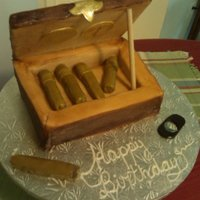 Cigar Box For Dad First time trying a cigar box. Or cigars period! I think they look funky, but hey- I tried! This cake was coffee flavored with coffee...