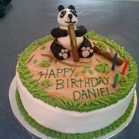 Panda Birthday Our customer is fond of pandas and so we did this one out of fondant. I searched cake central for ideas and it was a really big help. Thank...