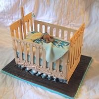My First Crib. I made this cake for a friend's shower. I have been wanting to try gum paste for awhile and this is my second attempt at using it. I...