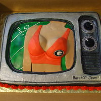 Tvs And Tatas. This cake was really fun to do. It was for a man who told his wife he wanted a cake of his two favorite things; TVs and TaTas. So that'...