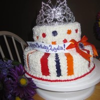 Princess Cake For Lydia   My most requested cake - the 'Princess cake'. Requested colors were orange, red, and purple!