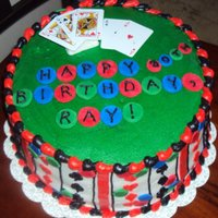 Poker Cake   Buttercream with fondant accents