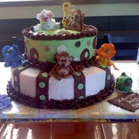 Baby Animals I made this for a girl at my work for her little baby due in Feb named Owen, the cake is choc with buttercream frosting and the animals are...