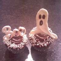 Halloween Cupcakes I made some cupcakes for my husbands housekeepers and maintenance men, they are just devils food chocolate with chocolate frosting, I used...