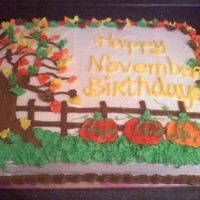 November Birthdays This is a confetti cake frosted and decorated in buttercream frosting. I made this for work for the November Birthday's. TFL