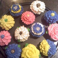 Flower Cupcakes Chocolate cupcakes with buttercream icing, Thanks to all the CC ideas i got to make these. I have a someone wanting some for a wedding and...