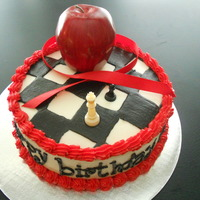 Twilight Saga Theme Made for a girl who loves twilight. The apple, ribbon, and chess pieces are not edible. Everything else, buttercream. I tried to write the...